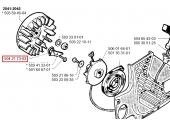 Ressort de Volant magnétique pour 55, 51, RS44, GR 44 ... - Ref 504 21 73-03 - Husqvarna