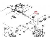 Câble d'accélérateur pour Tronçonneuse CS2137, CS2035 ... - Ref 530 04 76-02 - Husqvarna