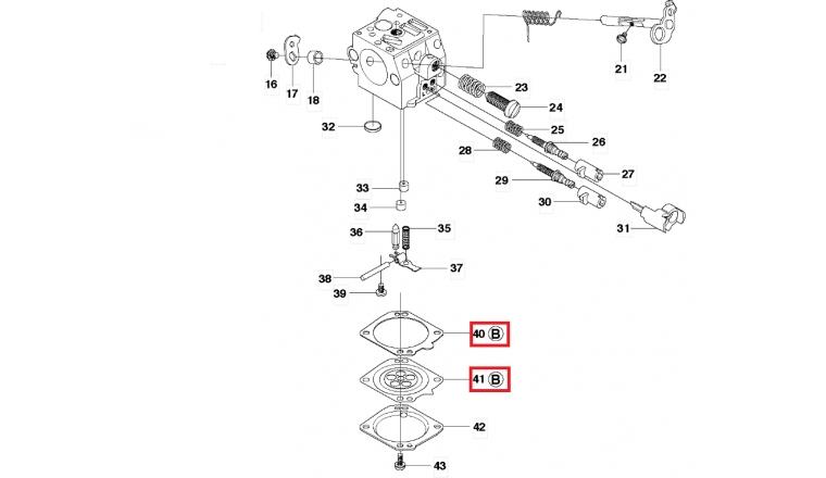 Joint de carburateur pour Tronçonneuse 362,372, 365 .. - Ref 503 64 78-01 - Husqvarna