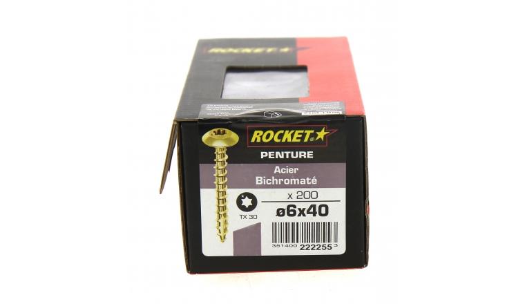 Boîte de 200 Vis à penture Tête ronde Torx Ø 6 x 40 mm ROCKET