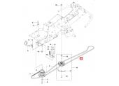 Courroie de coupe secondaire pour Autoportée R214T, R213C, R216 - Ref 594 97 78 01 - Husqvarna