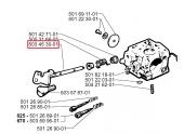 Arbre de Régulation Carburateur Tronçonneuse 625, 630, 670 - Ref 503 45 30 01 - Husqvarna