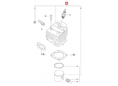 Cylindre Complet pour Tronçonneuse 55 et 55 Rancher - Ref 503 60 91 71 - Husqvarna