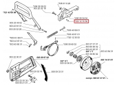 Goupille pour Gâchette frein de chaîne 2077 et 2083 Jonsered - Ref 720 12 70 50 - Husqvarna