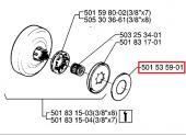 Rondelle de pression Cloche d\'Embrayage - Ref 501 53 59 01 - Husqvarna