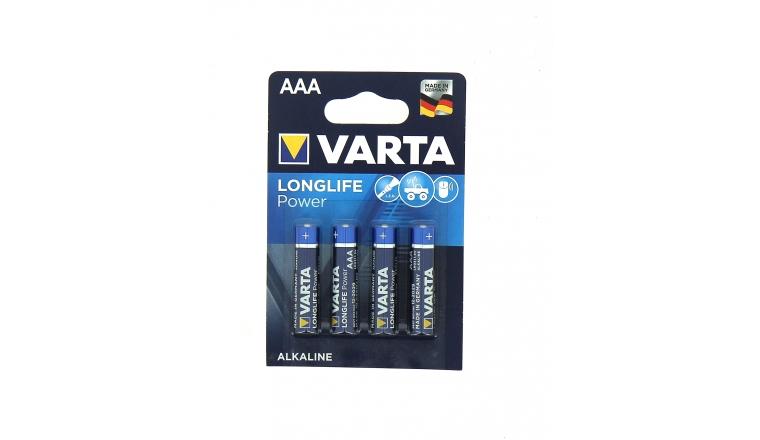Pile alcaline AAA LR03 1V5 x4 - Longlife Power - Varta