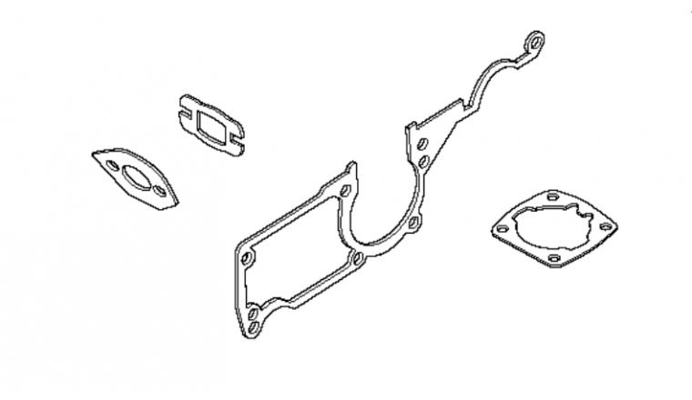 Pochette de Joints moteur pour Tronçonneuse  55 Rancher - Ref 501 76 18 02 - Husqvarna