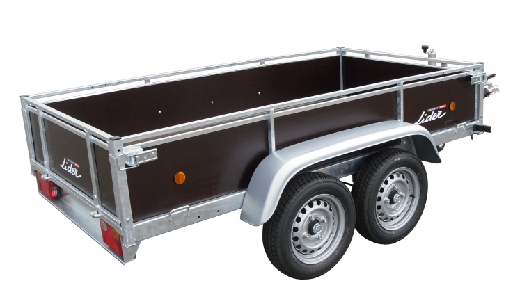 Remorque Bois 2 essieux PTAC 1300kg Freinée réf 34480 - Lider