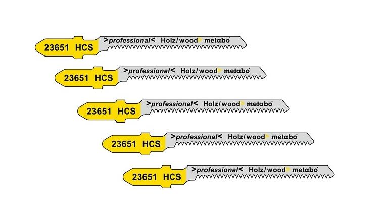 Lames de scie sauteuse HCS bois x5 Metabo 57x1,25