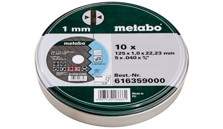 Meules de tronçonnage Inox 125 mm Metabo 616359000