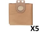 5 sacs filtrants en papier pour aspirateur 32 litres Metabo