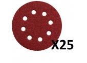 Assortiment de 25 disques abrasifs 60/80/120 METABO