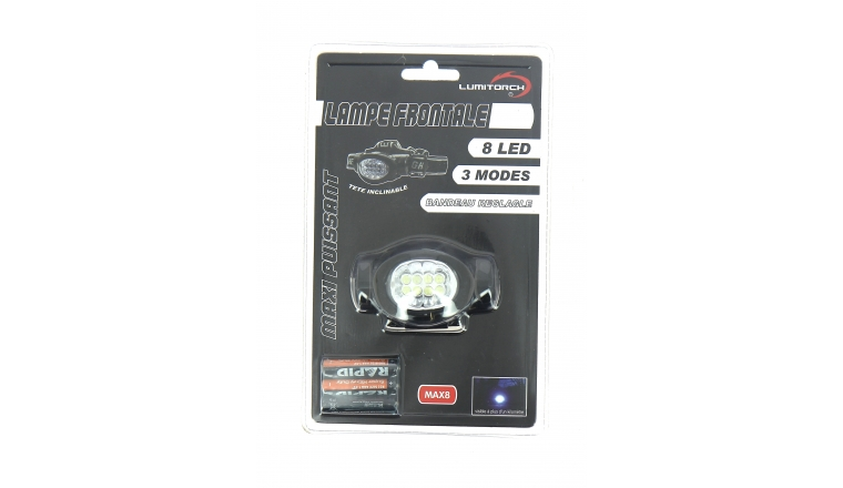 Lampe frontale 8 Leds Max8 - Lumitorch