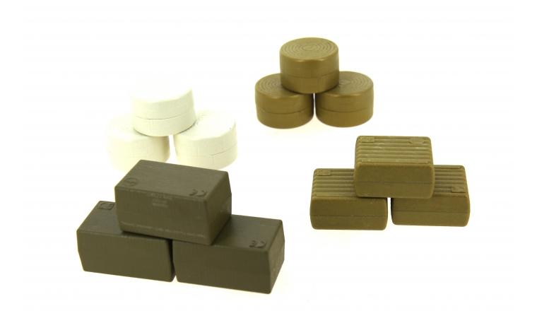Assortiment de balles de foin rondes carrées échelle 1/32 Siku