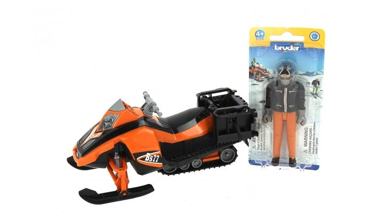 Moto neige avec son Chauffeur - Bruder 63101