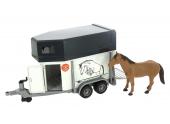 Van avec un cheval échelle 1/16 Bruder