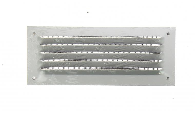 Grille métal 190x75mm avec moustiquaire finition alu - DMO