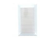 Grille verticale métal à auvent finition blanc 140x250mm - DMO