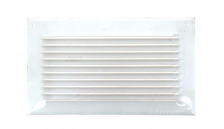 Grille métal à auvent avec moustiquaire 240x140mm finition blanc- DMO