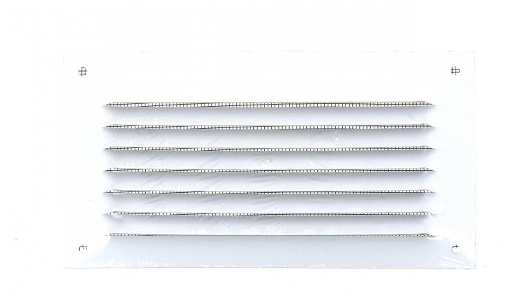 Grille métal avec moustiquaire 190x100mm finition blanc - DMO