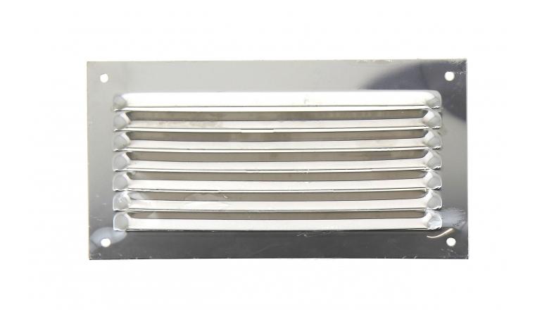 Grille métal sans moustiquaire 190x100mm finition Inox DMO
