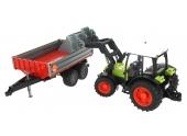 Tracteur Claas Nectis 267 F avec remorque à ridelles Bruder 2112