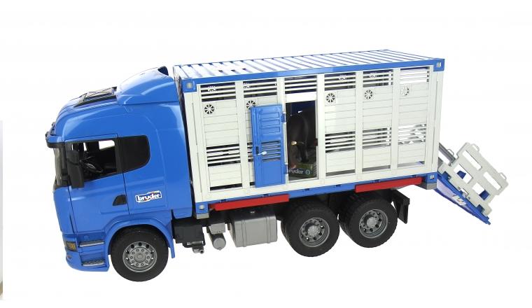 Camion bétaillère Scania avec une vache Bruder 3549