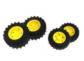 Jeu de roues jumelées avec jantes jaunes série 3000 Bruder 3314