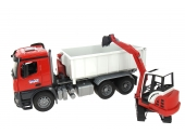 Camion benne avec mini pelle Schaeff Bruder 3624