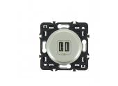 Mécanisme Prise USB Double Titane Céliane - Ref 674 62 - Legrand