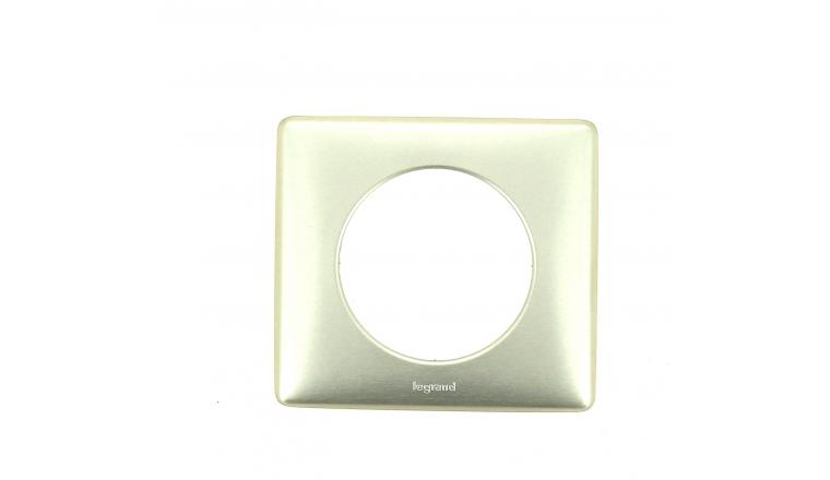 Plaque de finition Simple Acier Céliane - Ref 689 01 - Legrand