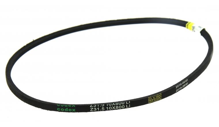 Courroie trapézoïdale lisse Z31.5 10x800mm Li 800  Lw 825 - Codex