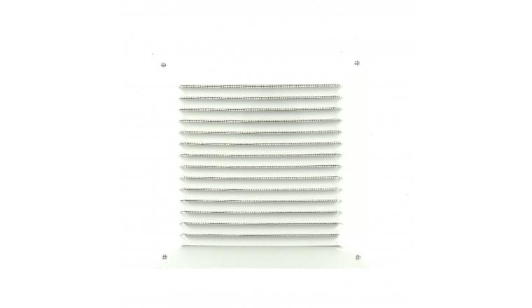 Grille métal carrée 190x190mm blanche DMO