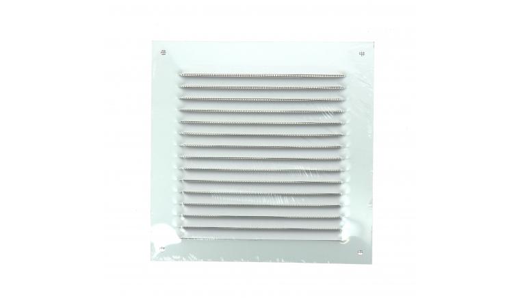 Grille de ventilation métal carrée 190x190mm finition alu DMO