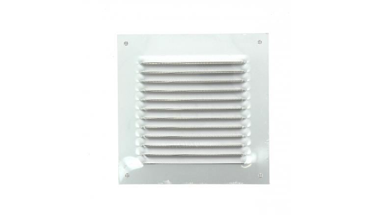 Grille de ventilation carrée métal 165x165mm finition alu DMO 97006