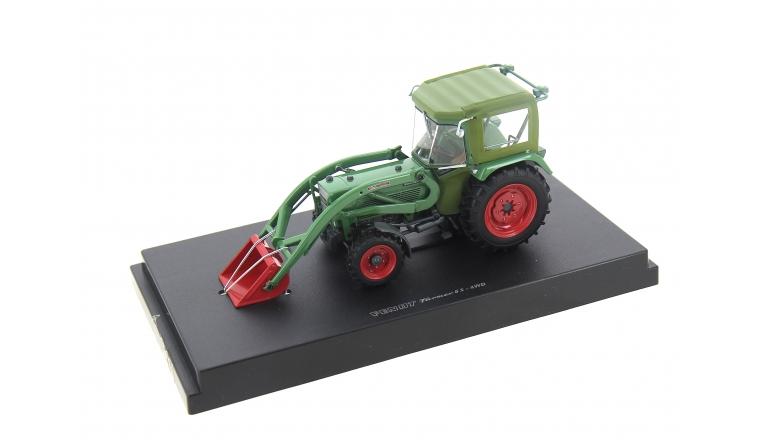 Tracteur Fendt Famer 5S Cabine Peko avec chargeur 4 roues motrices Echelle 1/32 UH5310