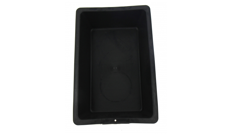 Auge Plastique Noir 25 litres 60x39x16 cm Taliaplast