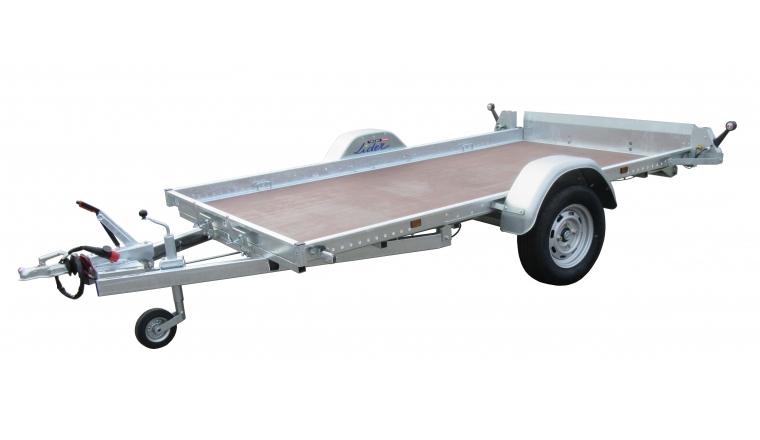Remorque Robust Plateau 37380 Simple essieu freiné PTAC 750kg - Lider