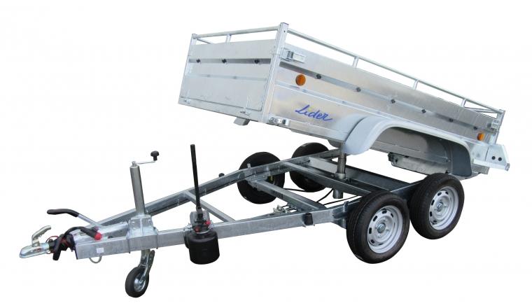 Remorque Robust Benne 34352 PTAC 1500kg 253x134x50cm - Lider