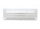 Grille en plastique rectangulaire 230x80mm blanche DMO