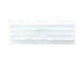 Grille plastique fixe 245x95mm blanche DMO