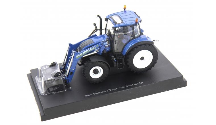 Tracteur New Holland T5.120 avec chargeur frontal 1/32ème Universal Hobbies
