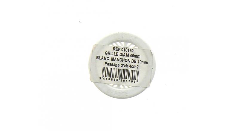 Grille plastique ronde diamètre 45mm DMO 010170