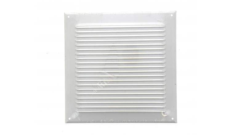 Grille métal carré 240x240 mm blanche DMO 97216