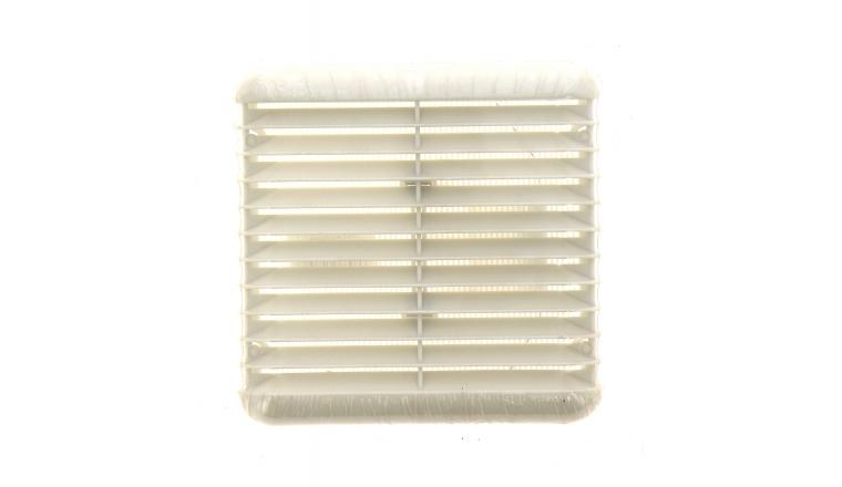 Grille extérieure antichoc carrée PVC blanc 166x166mm DMO 010710