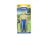 Figurine homme blond avec jean bleu - Bruder
