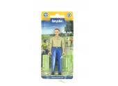 Figurine femme rousse avec jean bleu - Bruder