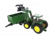 Tracteur John Deere 7930 avec remorque basculante Bruder 3055