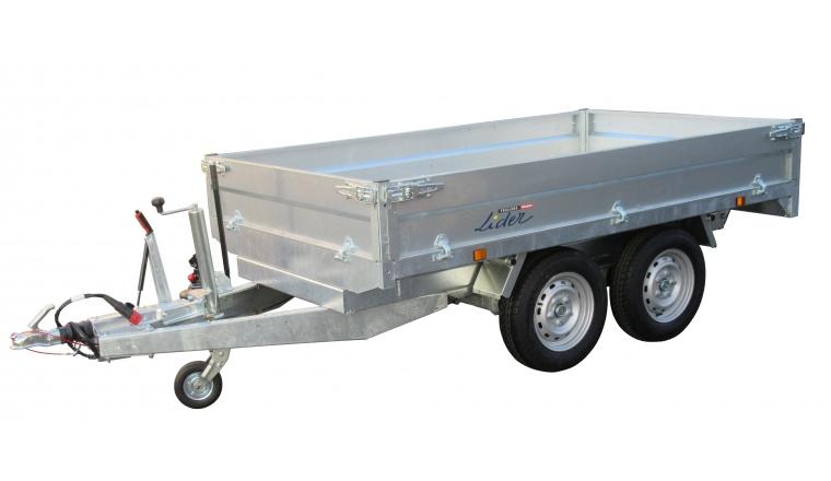 Remorque benne 2m50 PTAC 2500kg pompe manuelle Lider