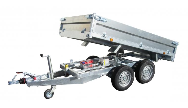 Remorque benne 2m50 2500kg pompe électrique 37600PE - Lider